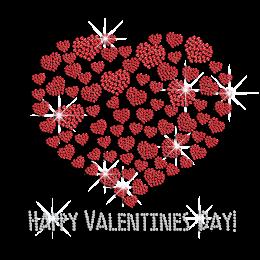 Shining Valentine's Day Rhinestud Transfer Motif