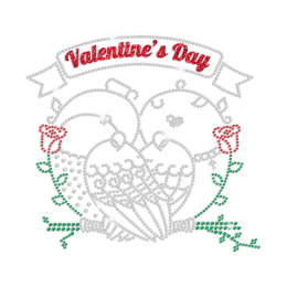 Shining Birds with Rose Rhinestone Logo