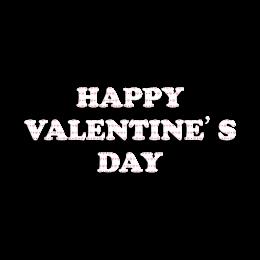 Happy Valentine's Day Vinyl Logo