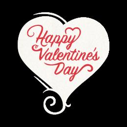 Printable Glitter Happy Valentine's Day Transfer