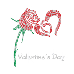 Shining Rose Rhinestone Transfer for Sweatshirt