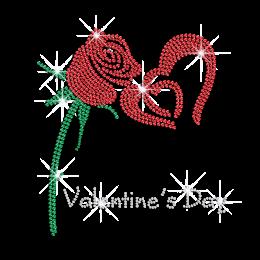Shining Rose Rhinestone Transfer for Sweatshirt