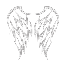 Rhinestone Crystal Wings Hot-fix Motif