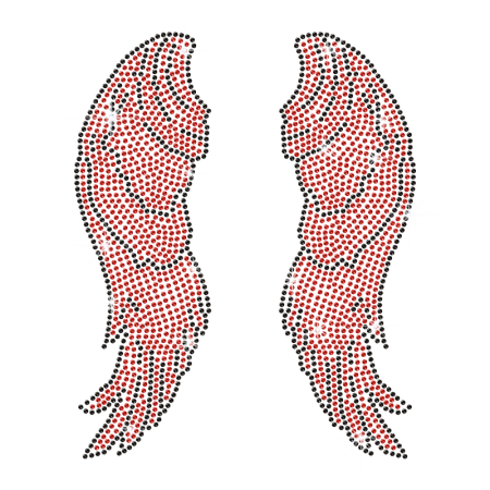 Bloody Wings Iron On Crystal Design for Clothing