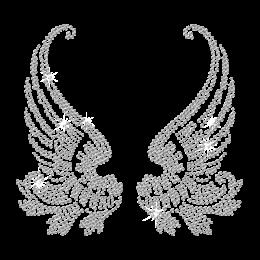 Hotfix Crystal Wings Rhinestone Design