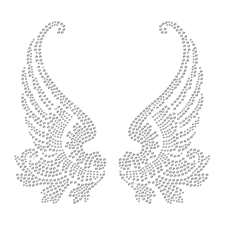 Hotfix Crystal Wings Rhinestone Design