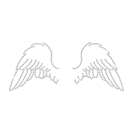 Rhinestone Little Angel Wings Hot-fix Motif