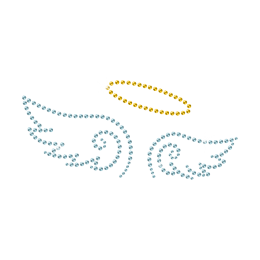 Blue Angel Wings Iron on Rhinestone Motif