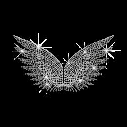Crystal Wings Iron-on Rhinestone Transfer
