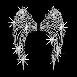 Crystal Wings Iron on Rhinestone Transfer