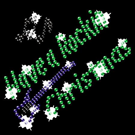 Iron on Rhinestone Christmas Motif Design