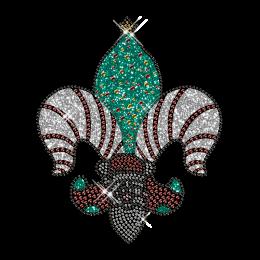 Custom Best Sparkling Funny Santa Claus Diamante Iron on Transfer Design for Clothes