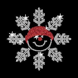 Snowflake Cutie Bling Rhinestone Motif for Clothing