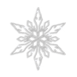 Custom Hot Fix Bling Xmas Snowflake Design