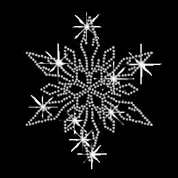 Custom Hot Fix Bling Xmas Snowflake Design