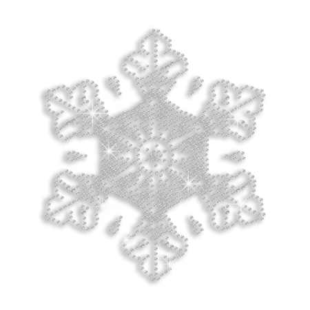 Wholesale Clear Crystal Snowflake Transfer for Shirts