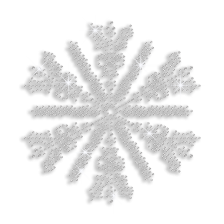 Pure Crystal Snowflake Iron on Design Wholesale