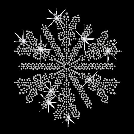 Pure Crystal Snowflake Iron on Design Wholesale