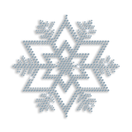 Shining Blue Snowflake Rhinestone Iron ons for Kids
