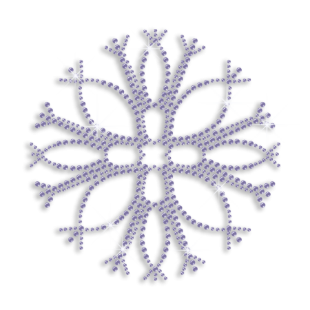 Tree Branches Shape Purple Snowflake Bling Iron Design