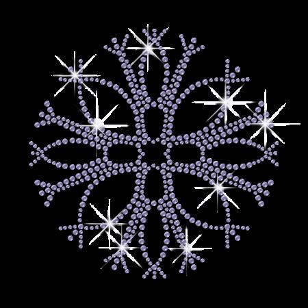 Tree Branches Shape Purple Snowflake Bling Iron Design