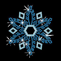 Single Piece of Blue Snowflake Hot Fix Strass Design