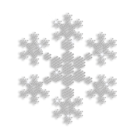 Clear Crystal Rhinestone Snowflake Heat Press Design