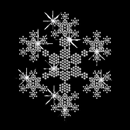 Clear Crystal Rhinestone Snowflake Heat Press Design