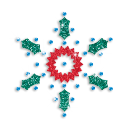 Shining Multiple Materials Bling Snowflake Motif
