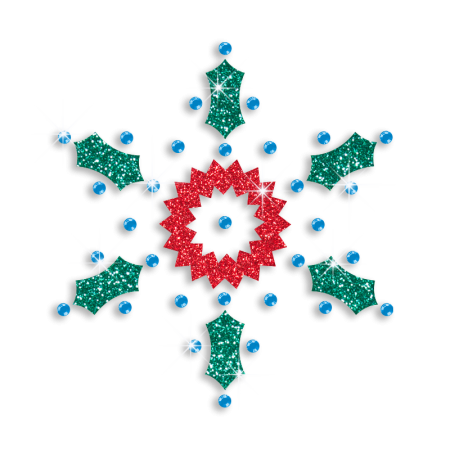 Shining Multiple Materials Bling Snowflake Motif