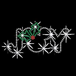 Little Christmas Joy Iron on Rhinestone Transfer