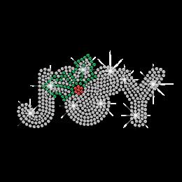 Bling Christmas Joy Iron-on Rhinestone Transfer