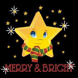 Cute Christmas Bright Star Iron-on Rhinestone Heat Transfer