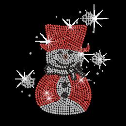 Cute Snowman Iron-on Rhinestone Transfer Design