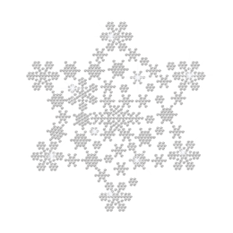Crystal Christmas Snowflakes Iron-on Rhinestone Transfer