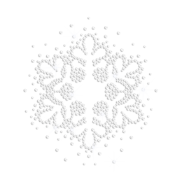 Bling Snowflake Iron on Nailhead Transfer Motif
