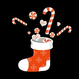 Custom Christmas Sock Printed Design with Candy