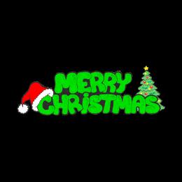 Bling Printed Glitter Merry Christmas Transfer