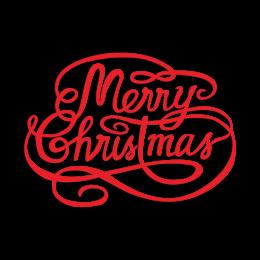 Custom Elegant Letter Merry Christmas Transfer
