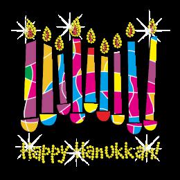 Custom Chanukah Candle Rhinestone Transfer