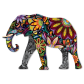Colored Drawing Elephant Printable Vinyl Heat Transfer