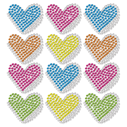 Little Heart Transfer Neon Rhinestud Transfer For Kids
