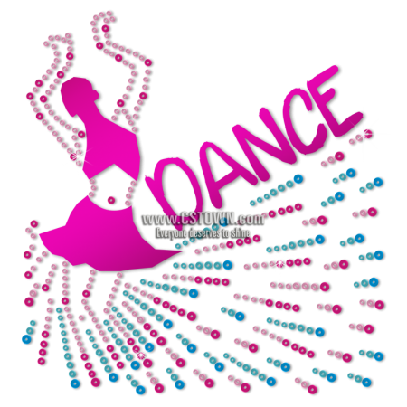 Folk Dance Life Bling Sequin Holofoil Heat Transfer
