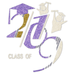 Cheer For Graduating From Class For 2019 Glitter Transfer
