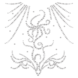 Bling Rhinestone Transfer For Gym Suit
