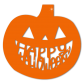 Happy Halloween Pumpkin PVC Transfer