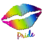 Pride Smile Lip Motif Glitter Printable Heat Transfer