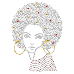 Afro Gorgeous Rhinestone Transfer For Shirts