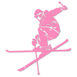 Glow In The Dark Skiing Sports Heat Transfer