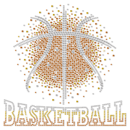 Fancy Basketball Metal Nailhead Heat Transfer For Shirts